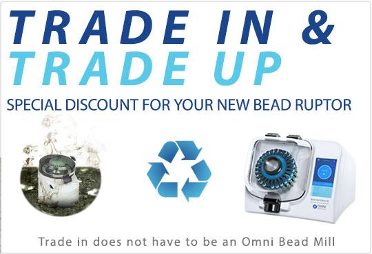 Tauschen Sie jetzt Ihren alten gegen einen Bead Ruptor !Rufen Sie uns an und fragen nach einem Angebot!